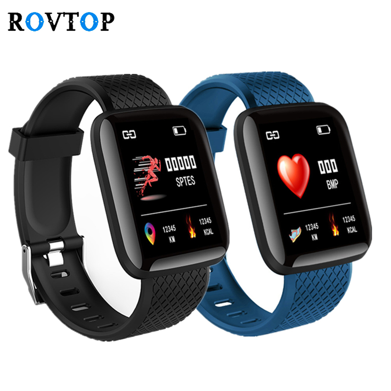 Android-Pedometer Wristband Smart-Watch-Band Blood-Pressure-Heart-Rate Fitness Sports title=
