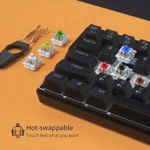 Image 3 - KEMOVE SnowFox 61 Key Mechanical Keyboard Switch 60% NKRO Bluetooth PBT Keycaps Wireless Wired Gaming Keyboard PC TABLET vs DK61
