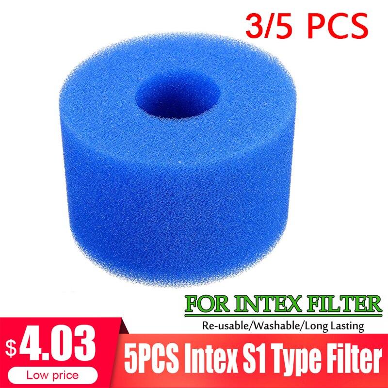 3/5 шт. фильтр для плавательного бассейна пена многоразовая моющаяся для Intex S1 Тип Фильтр для бассейна губка картридж подходит для пузырьков Jetted Pure SPA Бассейн и аксессуары      АлиЭкспресс