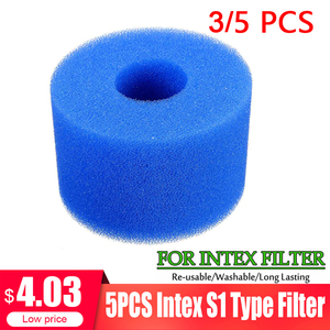 3/5PC Swimming Pool Filter Foam Reusable Washable For Intex S1 Type Pool Filter Sponge Cartridge Suitable Bubble Jetted Pure SPA(China)