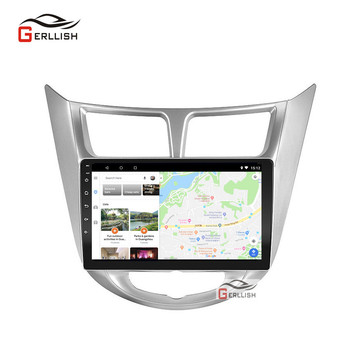 For Hyundai Solaris accent Verna i25 car dvd IPS Android with gps navigation radio video car stereo multimedia player image