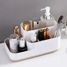 Organizador de maquillaje para baño, joyería cosmética, collar, caja de almacenamiento de lápiz labial, escritorio, cuidado de las mujeres, tocador, funda de belleza