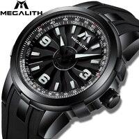 MEGALITH Men Military Watches Creative Turbine Rotation Dial Watch Sport Waterproof Quartz Watches Mens Clock Relogio Masculino