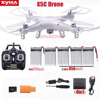 Oryginalny Syma X5C x5c-1 zdalnie sterowany Quadcopter Drone z kamerą lub Syma X5 helikopter RC dron bez kamery tanie i dobre opinie inny Z tworzywa sztucznego Metal 3 7V CN (pochodzenie) Wewnątrz i na zewnątrz 4K UHD 200M Mode1 4 kanały Oryginalne pudełko