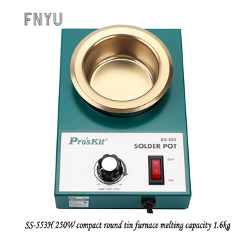 цена Pro'skit SS-553H 220V 250W stainless steel welding pot melting tin 1.6kg round tin furnace welding bath temperature 100℃-450℃ онлайн в 2017 году