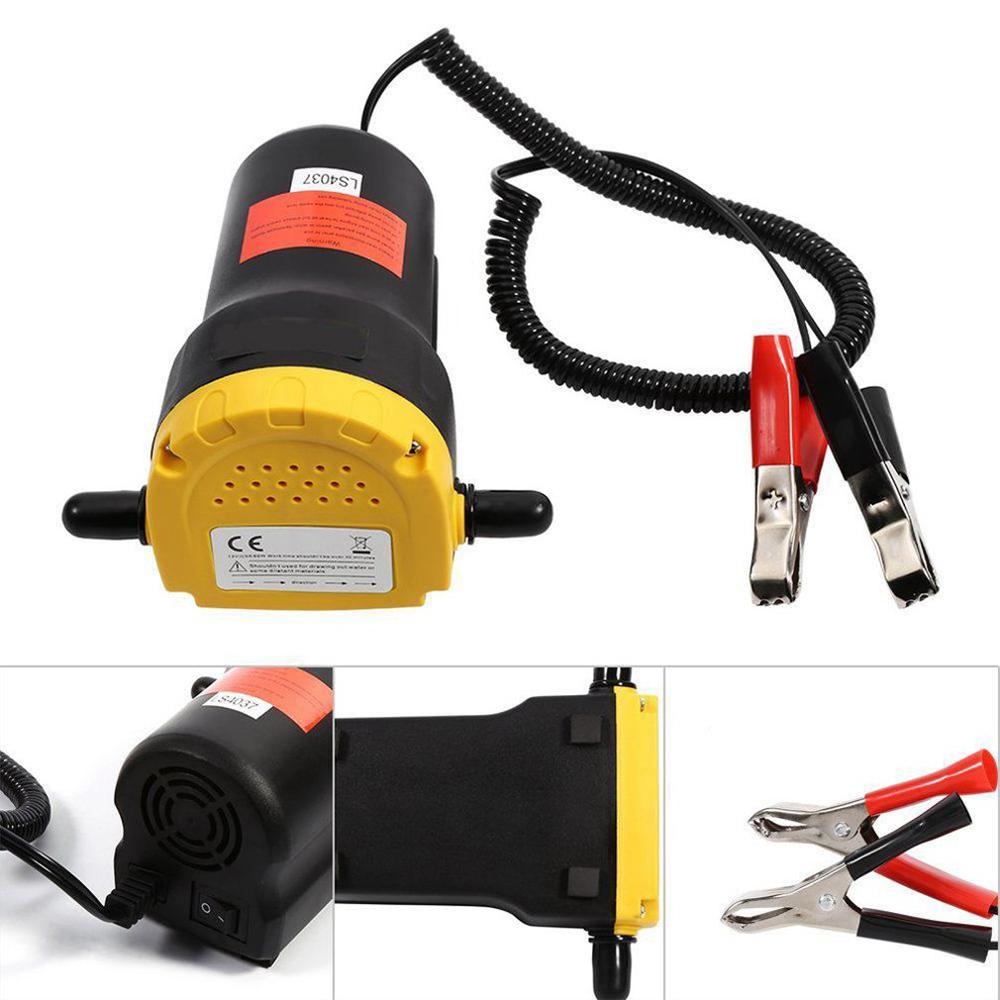 12 v 전기 자체 프라이밍 흡입 펌프 자동차 오일 윤활 기어 디젤 오일 펌프 자동차 수리 도구