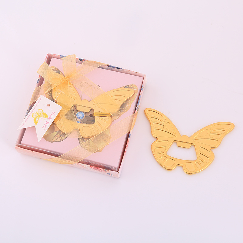 Creative Butterfly Bottle Opener Metal Manual Beer Wine Smooth Edge Personalized Favors And Gifts For Party Wedding