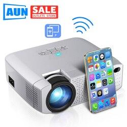 Aun Led Mini Projector D40W, Video Beamer Voor Home Cinema.1600 Lumen, Ondersteuning Hd, draadloze Sync Display Voor Iphone/Android Telefoon