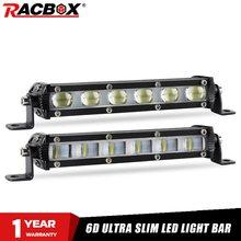 Ultra Slim 7 Inch 6D Lens Led Work Bar Light 4x4 Offroad For Jeep ATV SUV 4WD Motorcycle Flood Spot Beams Driving Lights 12V 24V