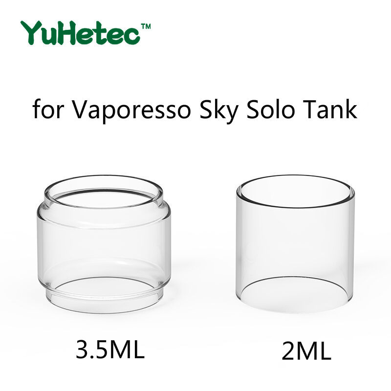 2PCS Original YUHETEC Replacement Glass TUBE For Vaporesso Sky Solo Tank 3.5ml/ 2ml