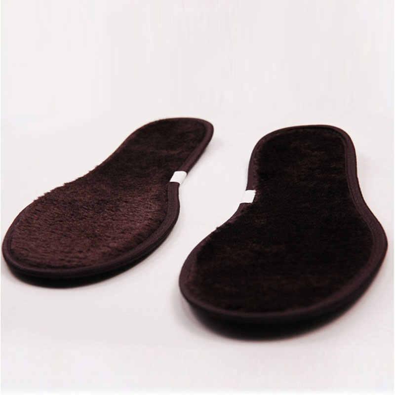 Thickened wool insoles winter thermal imitation cashmere sheepskin fur shoes pad Fleece keep warming unisex стельки
