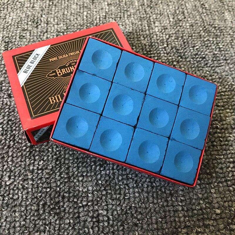 12pcs Snooker Billiard Chalk Pool Cue Chalk Oil Dry Billiard No-slip Chalk Table Chalk Pink Green Blue