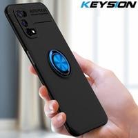 KEYSION-funda de teléfono a prueba de golpes para Realme, 7, 5G, 7 Pro, silicona suave, soporte para teléfono, cubierta trasera para Realme V5 5G Q2
