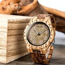 reloj hombre BOBO BIRD Wooden Mens Watches Top Brand Luxury  Japan Movement Watch Men Relogio Masculino OEM Dropshipping