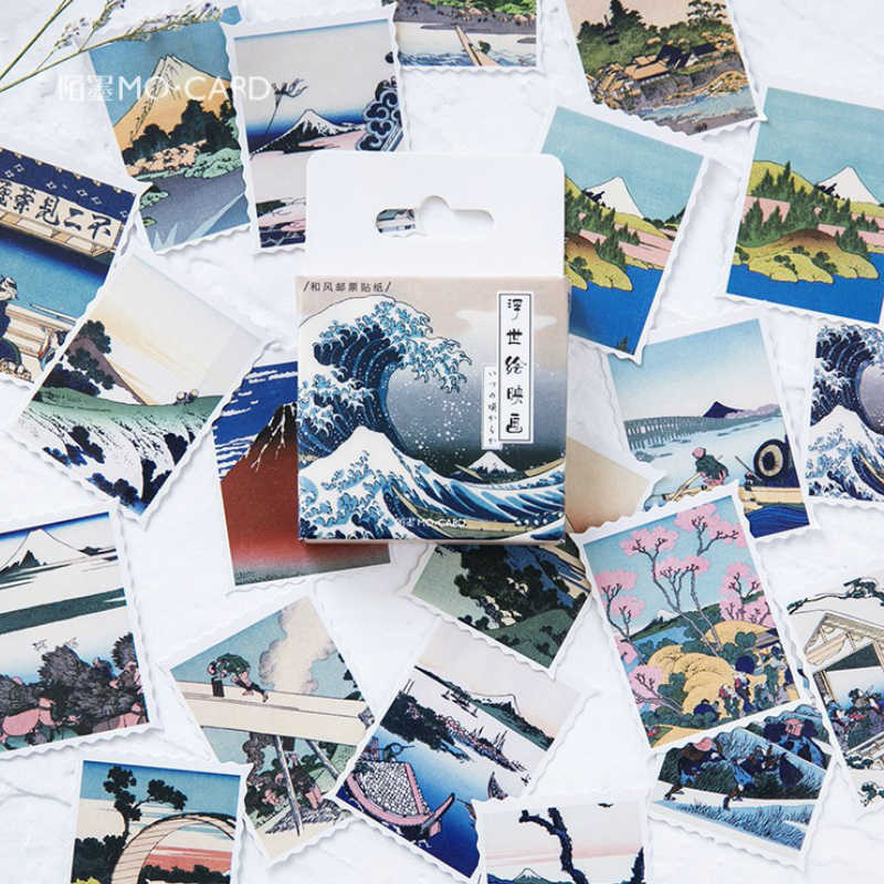 40Pcs/Pack Japanese Style Stationery Stickers Doodling Travel DIY Sticker Car Motorcycle Luggage Laptop Bike Scooter Toys