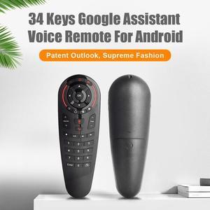 Image 2 - G30 sinek hava fare sesli uzaktan kumanda 2.4G kablosuz klavye için USB alıcı ile kablosuz uçan sıçan 6 eksenli jiroskop sensörü