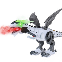 Stall Hot Selling Spray Dinosaur Toy Electric Light Spray Spitfire Machinery War Dragon Animal Model