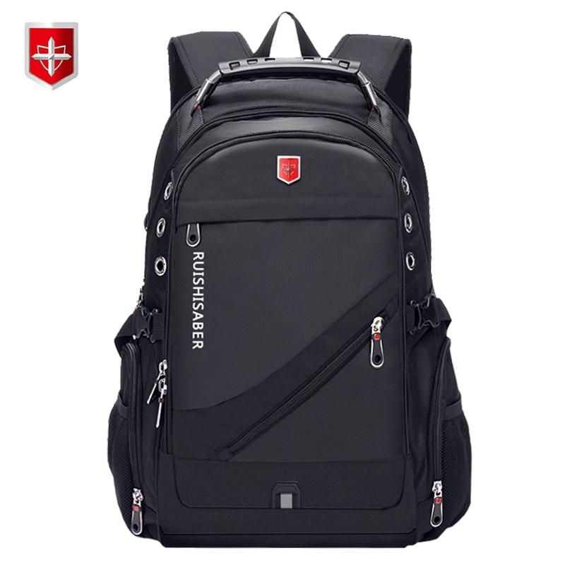 Oxford Swiss 17 Inch Laptop Backpack Men USB Charging Waterproof Travel Backpack Women Rucksack Male Vintage School Bag mochila 1