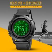 SKMEI marca Smart orologio da polso Bluetooth Smart Watches Mens cardiofrequenzimetro 3D pedometro uomo Sport reloj inteligente hombre No charge