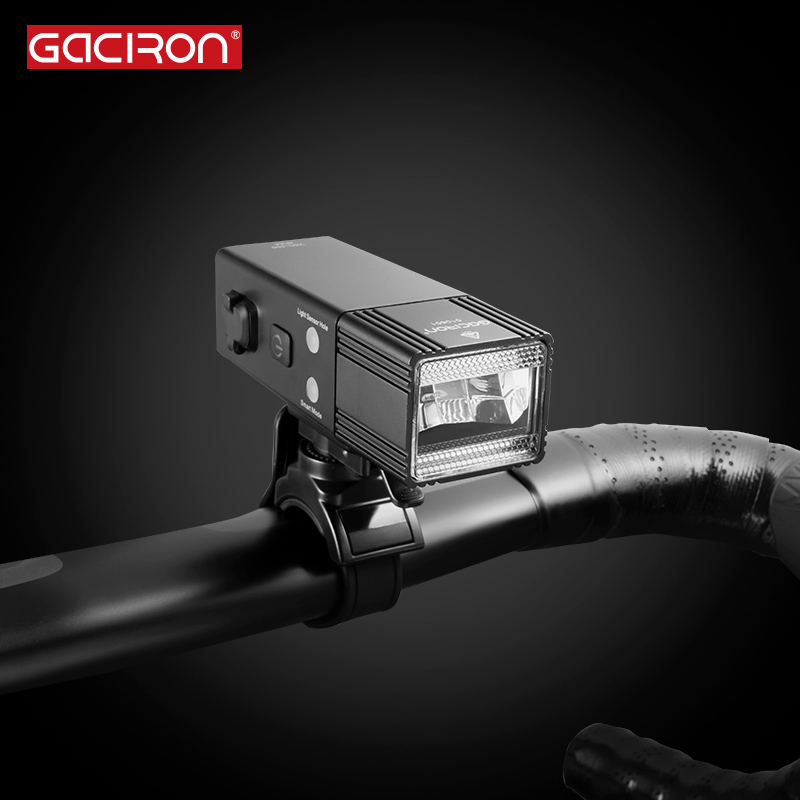 GACIRON V6C-400 Speed Bicycle Light 400Lumens Power Bank Waterproof USB Rechargeable Bike Light Flashlight