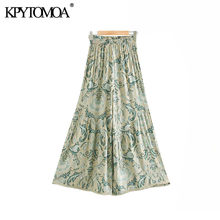 Boho Chic Summer Vintage Floral Print Wide Leg Pants Women 2020 Fashion High Elastic Waist Beach Ankle Trousers Pantalones Mujer(China)