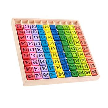 цена Montessori Educational Wooden Toys For Children Kids Baby Math Toys 99 Multiplication Table Math Game Arithmetic Teaching Aids онлайн в 2017 году