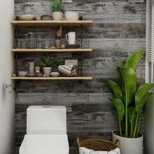 Papel pintado impermeable 3d patrón de madera Vintage papel tapiz para paredes papel de Contacto autoadhesivo para Hotel biblioteca dormitorio sala de estar