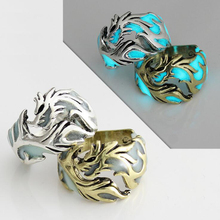 2019 Hot New Luminous Dragon Ring Unisex Ring Noctilucent Night Light Glowing In The Dark Moon Jewelry Accessories