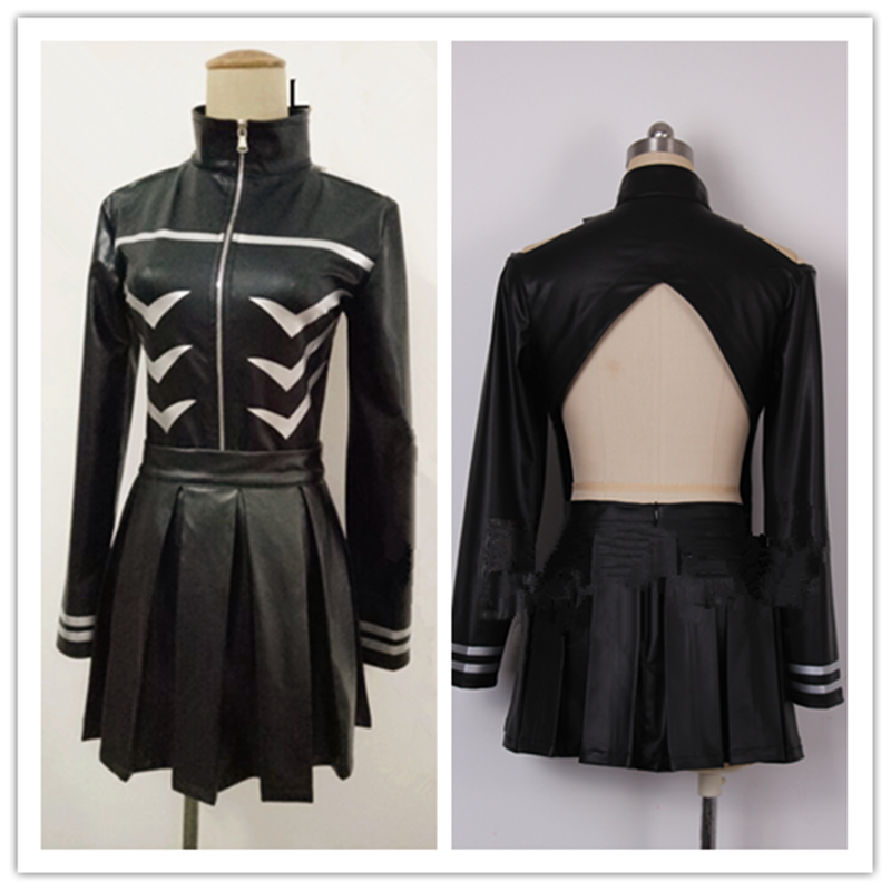 Cosplay Tokyo Ghoul Kaneki Ken Girl Uniforms Female Ken Kaneki Cosplay Costume Jacket + Skirt + Stockings Custom-made Style