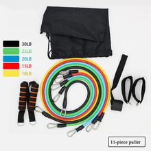 11pcs/set Resistance  Bands Pull Rope Fitness Exercises Latex Tubes Pedal Excerciser Body Training Workout Yoga