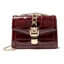 Crocodile Pattern Mini Crossbody Bags For Women 2019 Small Chain Handbag PU Leather Hand Bag Ladies Designer Shoulder