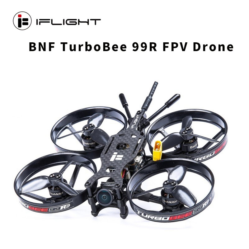 iFlight TurboBee 99R FPV Racing CineWhoop Drone SucceX F4 12A ESC 1104 8300KV Brushless Motor with Caddx.us Turbo 2.1mm camera