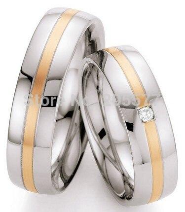 Luxe personnalisé à la main en or rose placage bijoux western anniversaire mariage bandes bijoux anneaux ensembles pour hommes et femmes couples