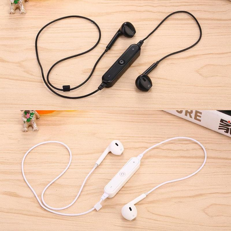 <font><b>S6</b></font> <font><b>Bluetooth</b></font> <font><b>Earphone</b></font> Stereo Sports Earbuds Wireless In-Ear Headphone with Mic 100*80*50mm Weight 15g Gross Weight 30g image