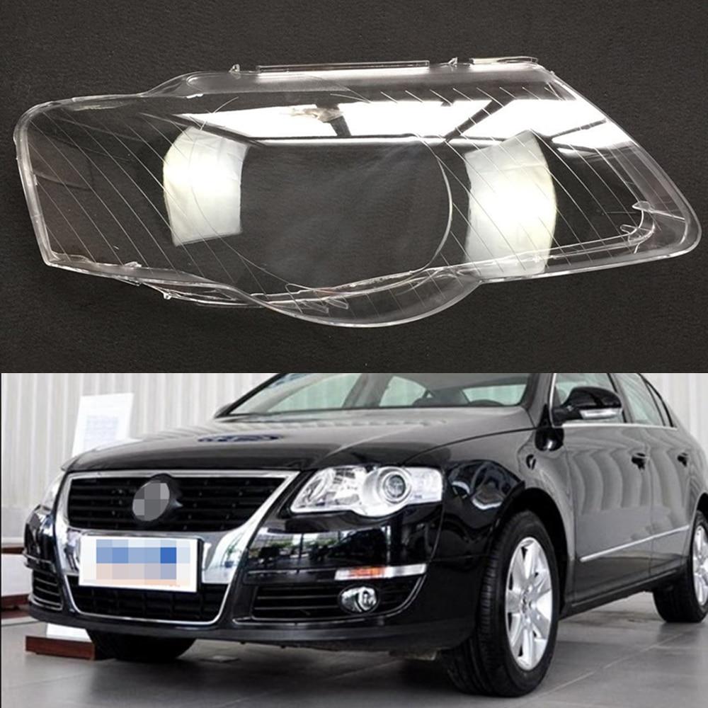 Headlamp Lens For Volkswagen VW Passat B6 2006 2007 2008 2009 2010 2011 Headlight Cover Replacement Front Car Light Auto Shell