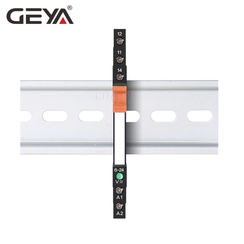 GEYA Slim Module Relay Bảo Vệ Mạch 6A Tiếp 12VDC/AC Hoặc 24VDC/AC Hoặc 230VAC Tiếp Ổ Cắm 6.2mm Độ Dày