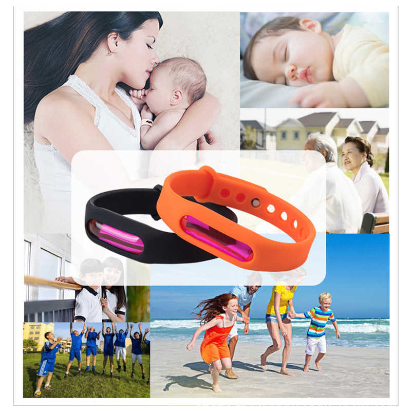 1 Pcs Silicone Anti-Muggen Kinderen Volwassen Armband Hand Ring Mosquito Killer Armband Herbruikbare Repellent Pols Band Armband
