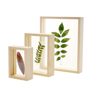 Double Sided Resin Photo Frame DIY Plant Specimens Solid Wood Frame Wedding Room Desktop Decoration Picture Frames Ornament