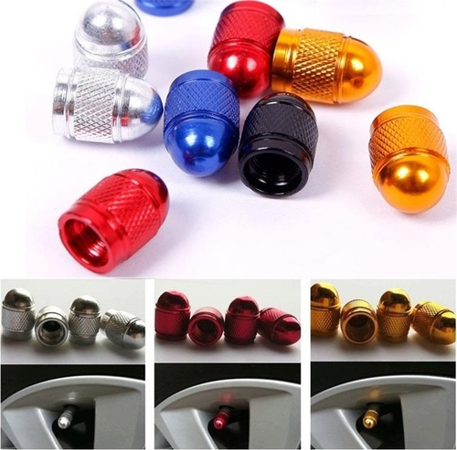 Aluminum Bullet Car Truck Pickup Air Port Cover Tire Valve Wheel Stem Cap