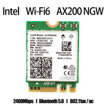 Беспроводная сетевая карта 2400 Мбит/с, Wi-Fi 6 Intel AX200 802.11ax/ac 2,4 ГГц 5 ГГц M.2 Bluetooth 5,1, адаптер Intel 9260 AX210 для ноутбука