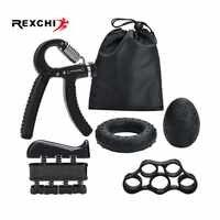 REXCHI 5 teil/satz Gym Fitness Einstellbare Hand Grip Set Finger Unterarm Stärke Muscle Recovery Schwere Hand Greifer Exerciser Trainer