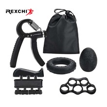 REXCHI 5PC/Set Gym Fitness Adjustable Hand Grip Set Finger F