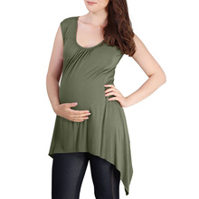 Women Maternity Clothes Tee Breastfeeding Pregnant Sleeveless Nursing Baby T-shirt Pregnanty Tops