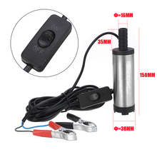 DC 12V 40W Electric Submersible Pump for Pumping Oil Water Fuel Transfer Pump Aluminium Alloy Shell 12L/min with Clamps недорго, оригинальная цена