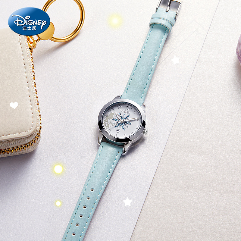Оригинал Disney Frozen Children% 27s Часы Указатель Водонепроницаемый Милый Мультфильм Студент Электронный Часы Женский