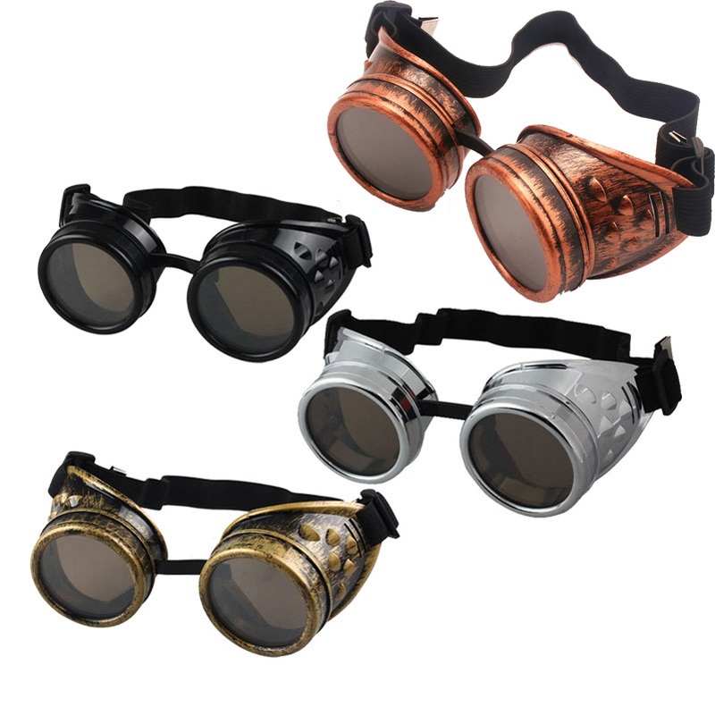 2020 New Fashion Arrival Sunglasses Vintage Style Steampunk Goggles Welding Punk Glasses Cosplay Brand Designer Five Colors Lens