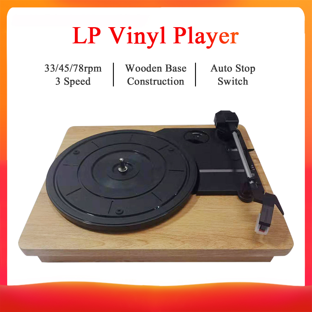 Player Record-Turntable-Player Gramophone Vinyl Retro LP Stereo-33 DC 5V RCA Three-Speed title=