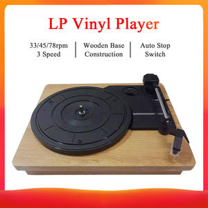 Player Gramophone Three-Speed Record-Turntable-Player LP Vinyl DC 5V RCA 45-78-Rpm Stereo-33