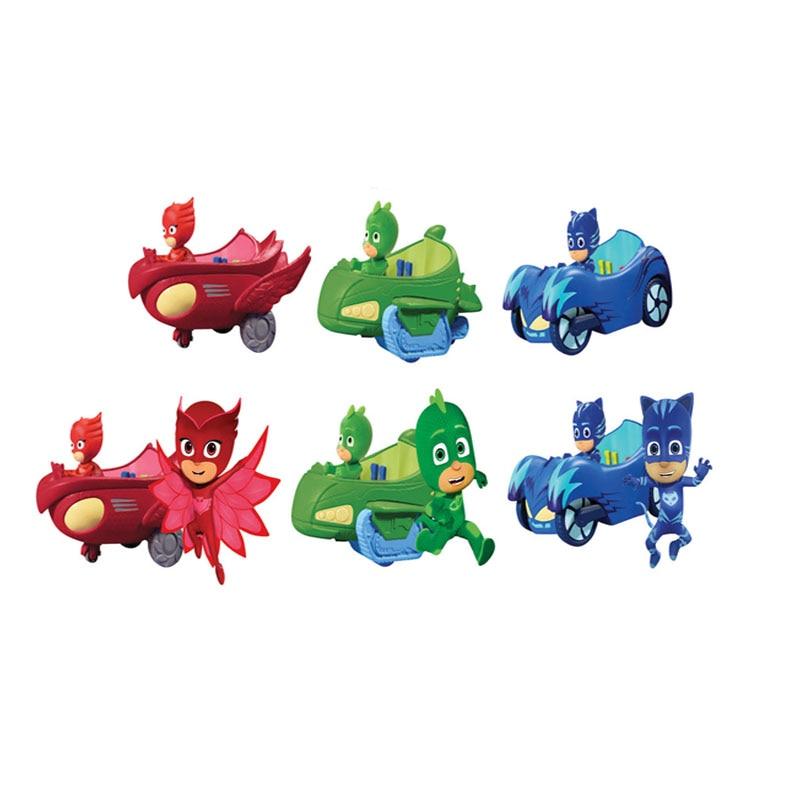 Pj masque 1 Villa 3 voitures 1gas station 3 poupées modèle Catboy Owlette Gekko figure masques ensemble assembler jouet jeux pour enfants gift2B19 - 4