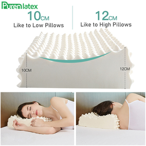 Image 4 - PurenLatex 60x38 Thailand Pure Natural Latex Orthopedic Pillow Neck Cervical Protective Spine Massage Remedial Body Pillows